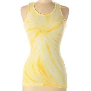 Hard Tail Tie Dye Yellow Tank Top Shirt